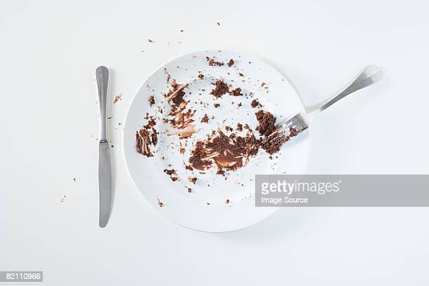 Chocolate cake leftovers