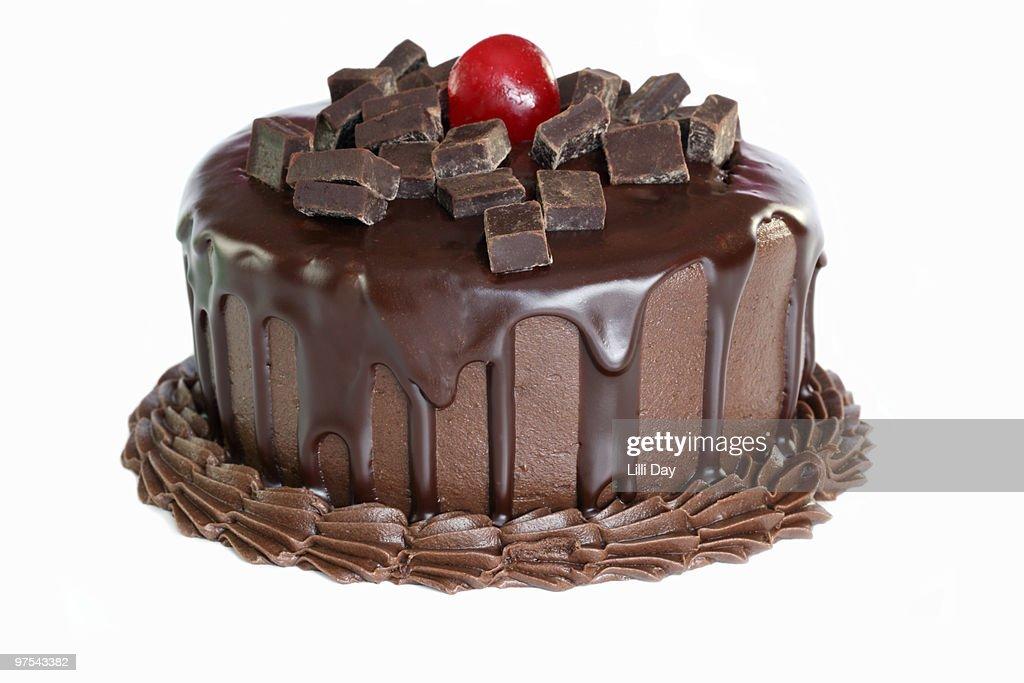 Chocolate Cake on White Background : Stock Photo