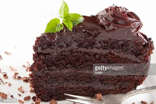 Chocolate Cake with Ganache Frosting