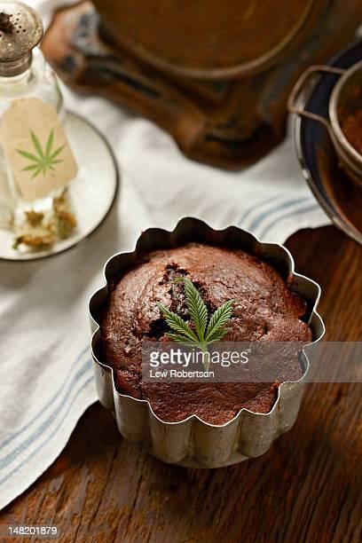 Chocolate cake with marijuana