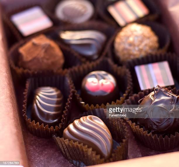 Chocolate Candy Valentine's Day Dessert, Gourmet Truffles Gift Box