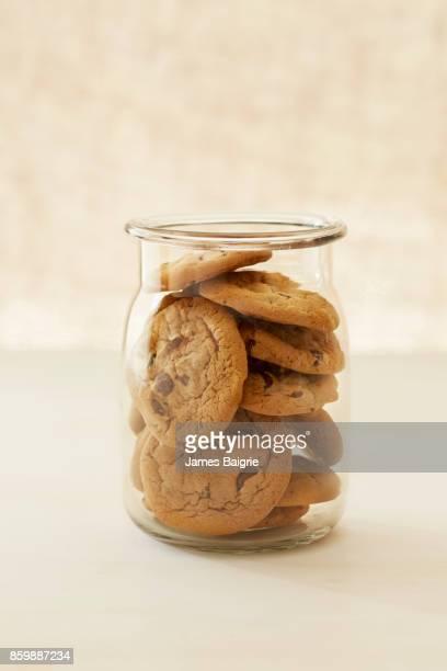 Chocolate cannabis cookies in a jar