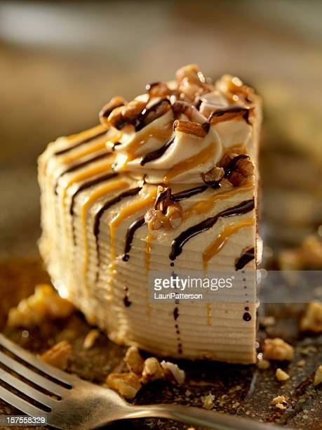Chocolate Caramel Cake with Walnuts