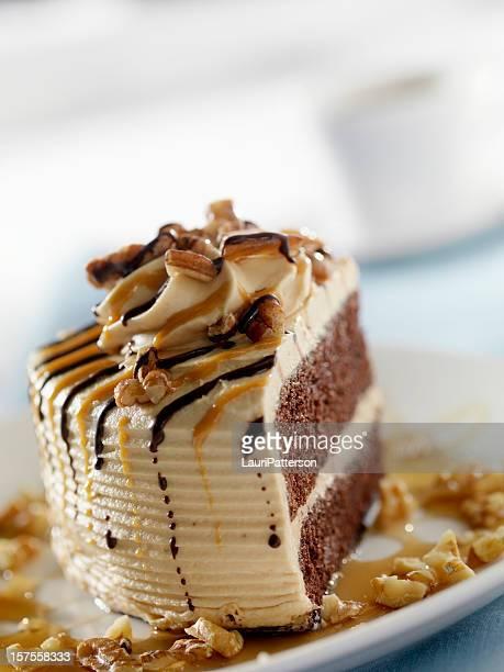 Chocolate Caramel Cake with Walnuts