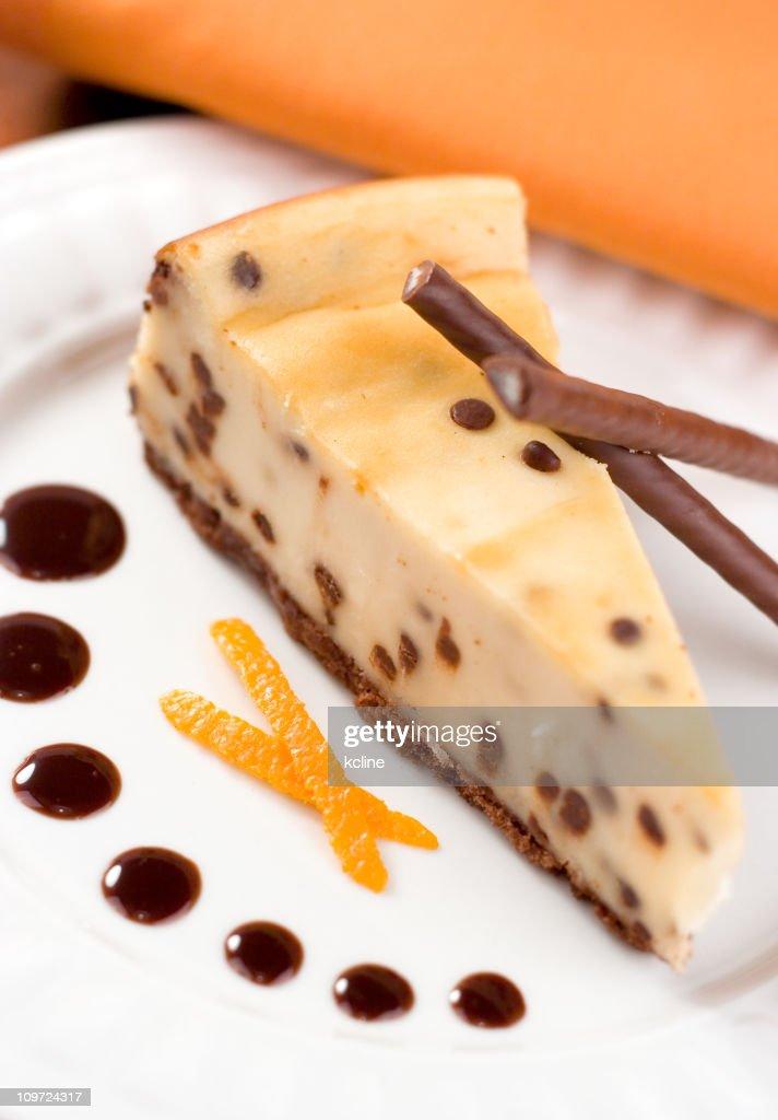 Chocolate Chip Cheesecake : Stock Photo