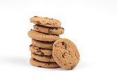 Chocolate chip cookie tower