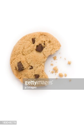Chocolate chip cookie with crumbs