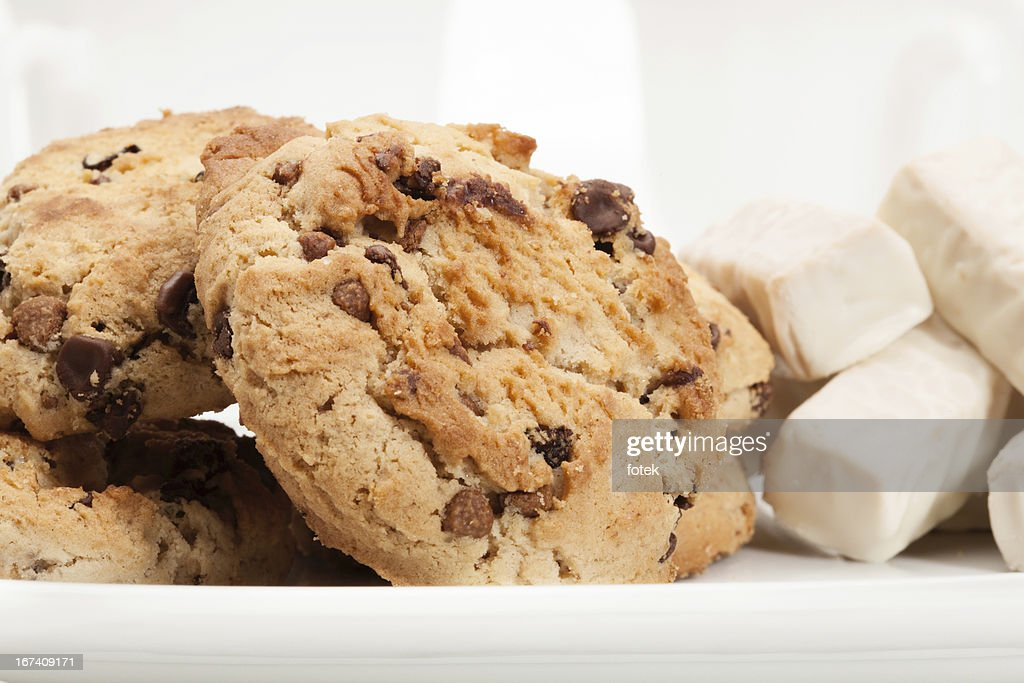 Chocolate chip Cookie und candy : Stock-Foto