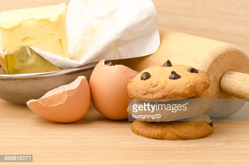 Chocolate chip cookies : Stock Photo