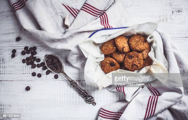 Chocolate Chip Gravel Cookies with French Linen