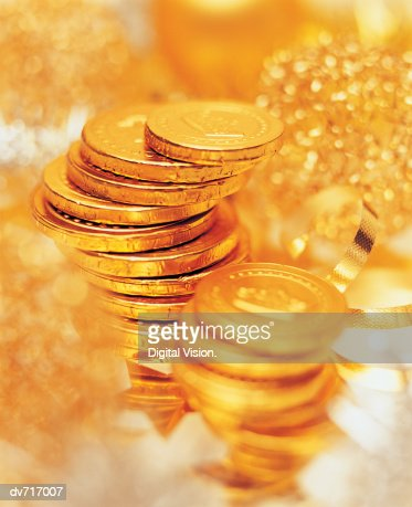Chocolate Coins : Foto de stock