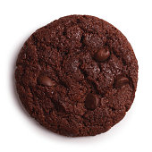 Chocolate Cookie Isolated + Clipping Path