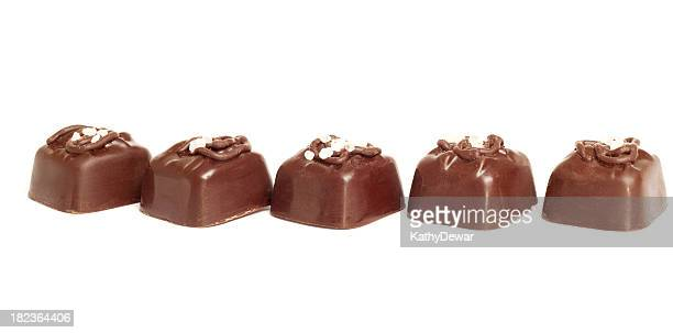 Chocolate Covered Caramels Sprinkled with Sea Salt