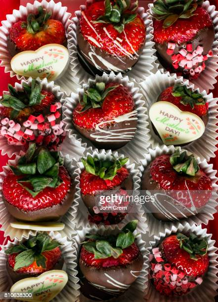 Chocolate covered strawberry Mother's Day gift