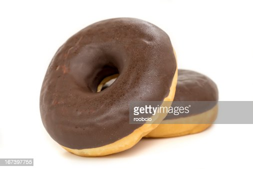 chocolate donut isolated on white background : Stockfoto