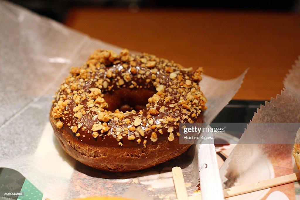 Chocolate Donut : ストックフォト