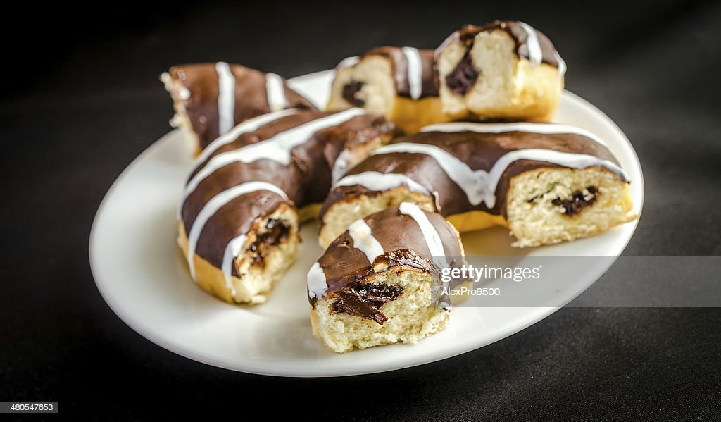 Chocolate donuts : Stock Photo