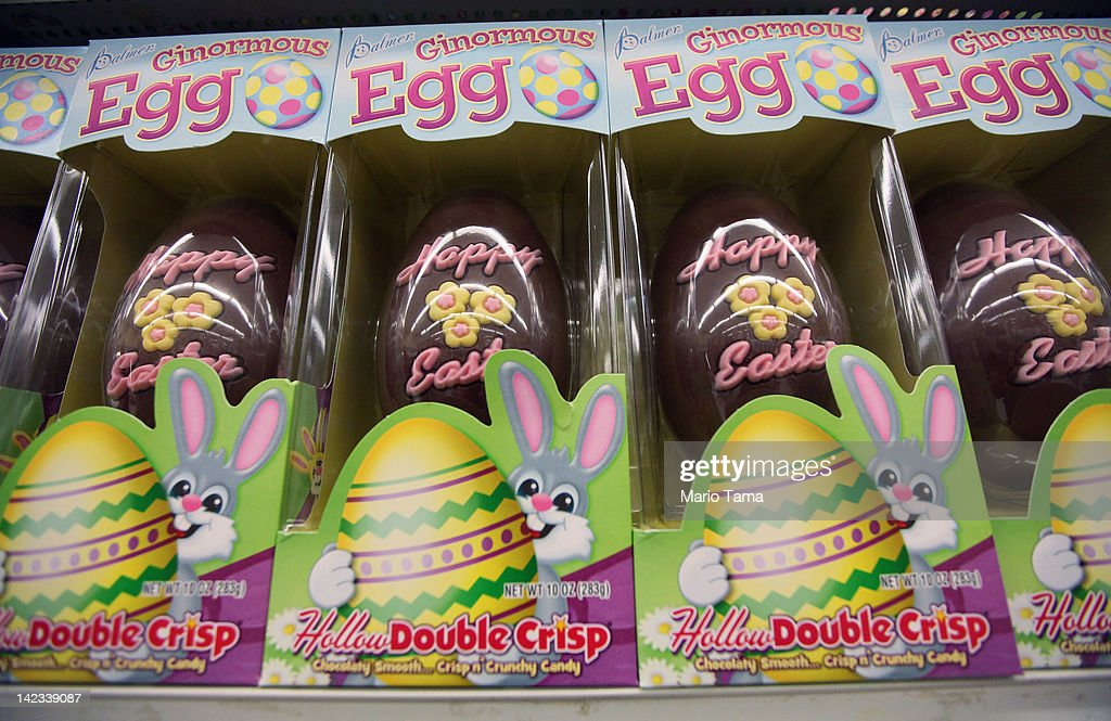 New survey finds americans to raise easter spending by 11 percent chocolate easter eggs are displayed in a manhattan store on april 2 2012 in new negle Gallery