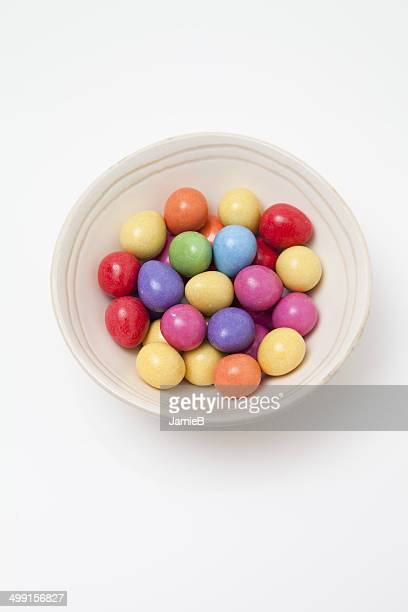 Chocolate Easter eggs in a bowl