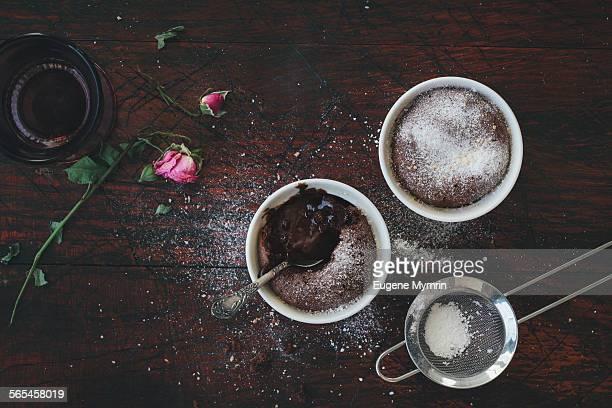 Chocolate fondant cakes