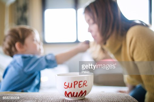 Chocolate for my super mum : Stock Photo