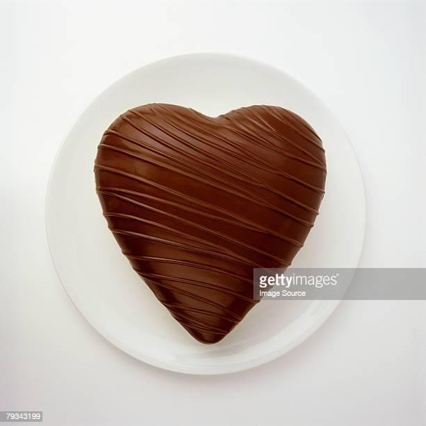 A chocolate heart