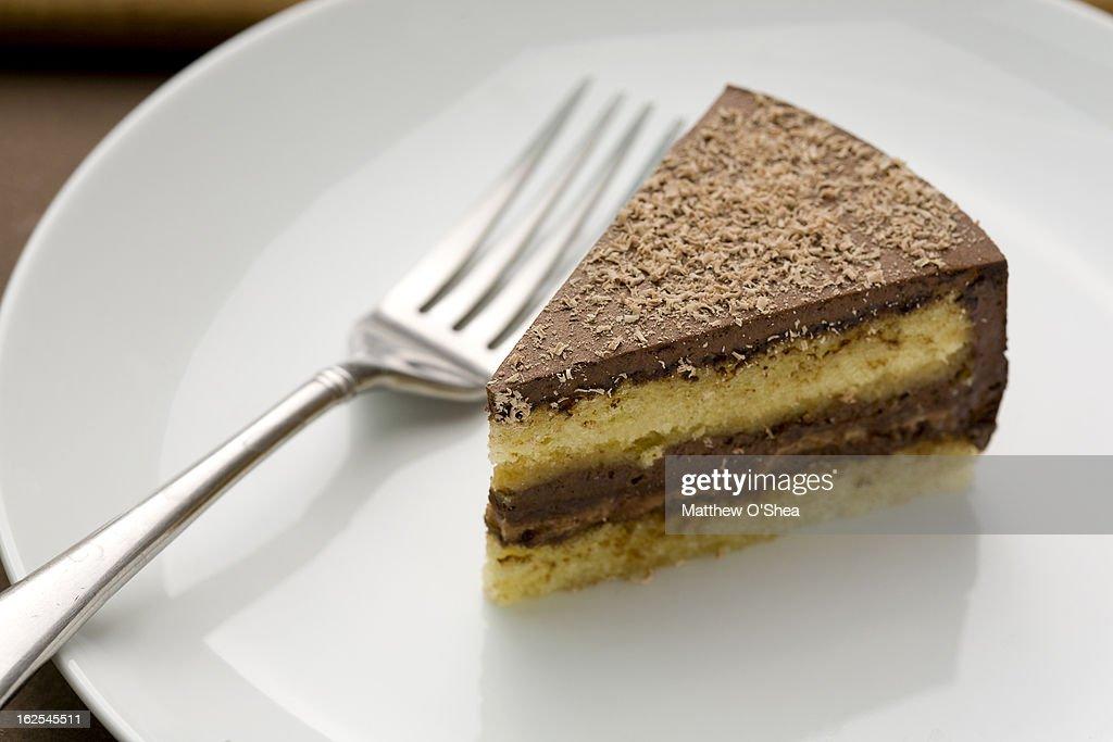 Chocolate layer cake : Stock Photo