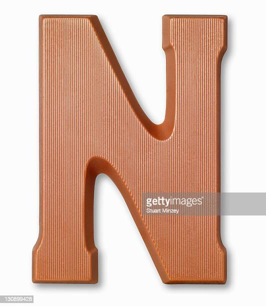 Chocolate letter n
