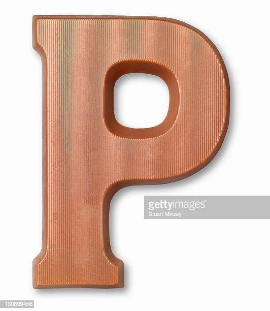 Chocolate letter p