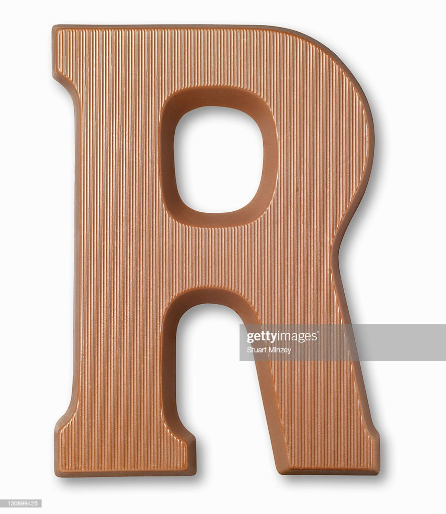 Chocolate letter r : Stock Photo