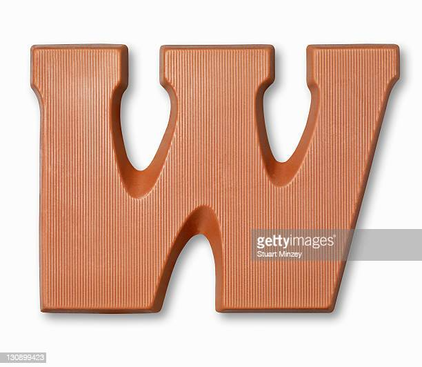 Chocolate letter w