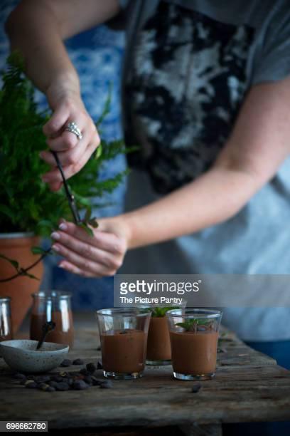 Chocolate mousse pots