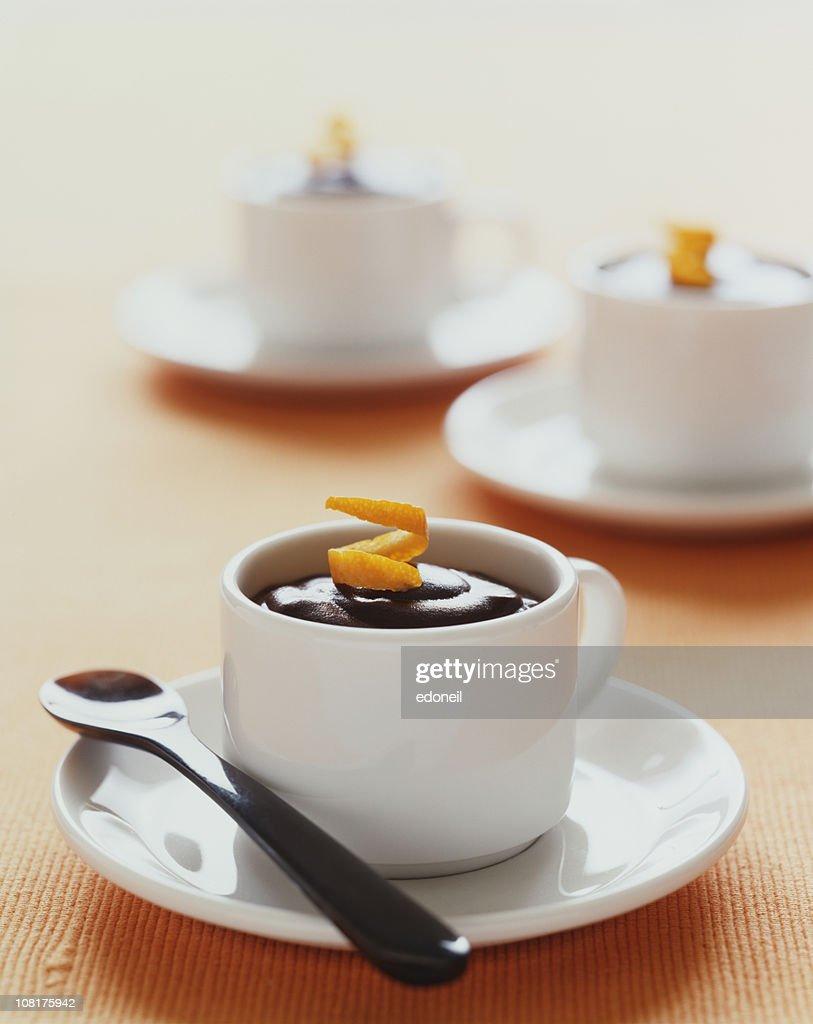 Chocolate Mousse with Orange : Stock Photo