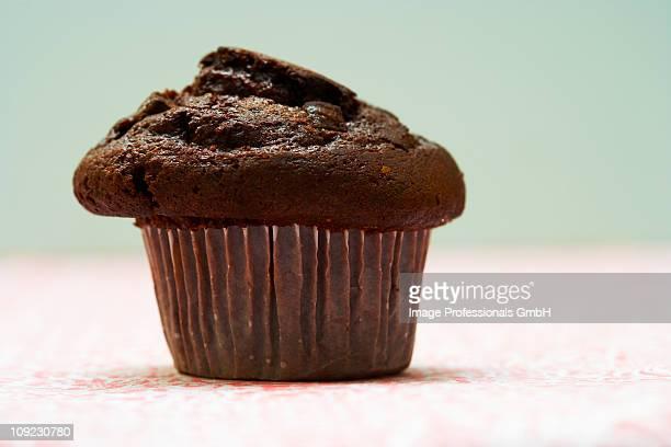 Chocolate muffin, close-up