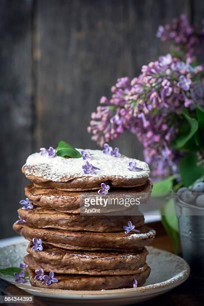 Chocolate pancakes still life