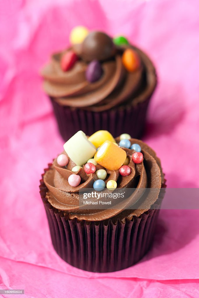 Chocolate party cupcakes : Stock Photo