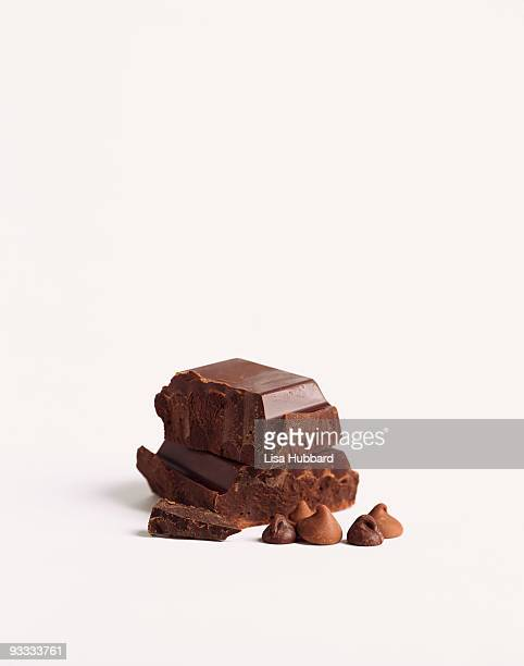 Chocolate pieces and chocolate chips