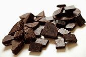 Chocolate pieces, close-up