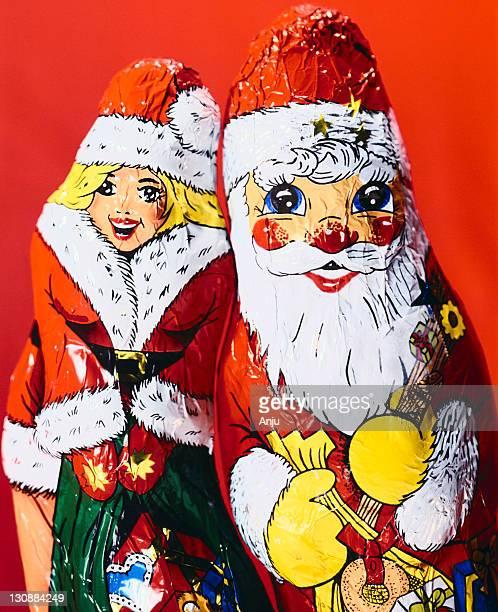 Chocolate Santa Claus and Santa Claus girl