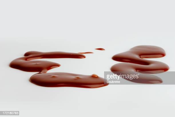 チョコレートソースがけ