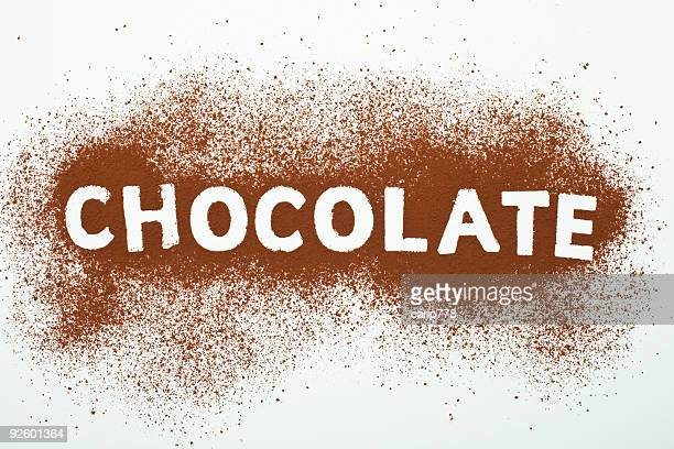 Chocolate spelled out