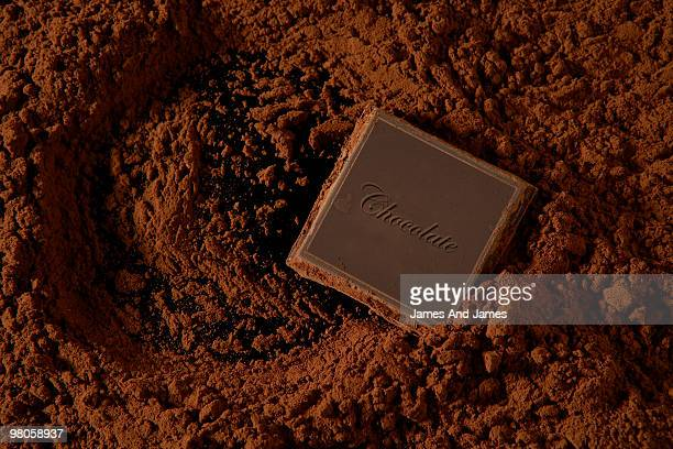 Chocolate Square in Chocolate Powder