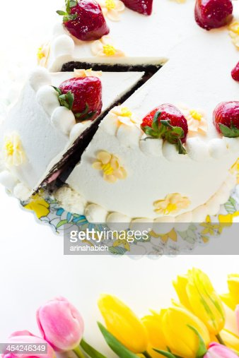 Chocolate Strawberry Lemon Torte : Stock Photo