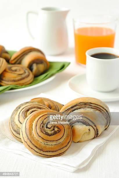 Chocolate Swirl Brioche Buns and Croissants
