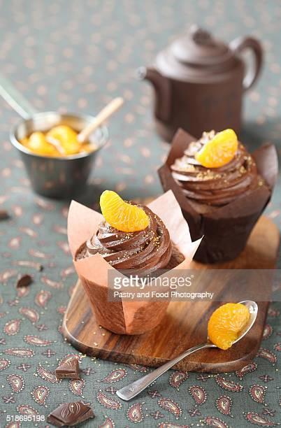Chocolate Tangerine Cupcakes