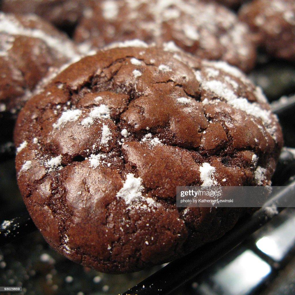 Chocolate Truffle Cookies : Stock Photo