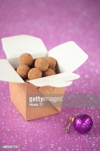 Chocolate Truffles : Stock Photo