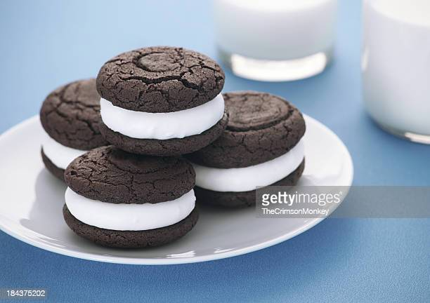Chocolate Whoopie Pies and Milk