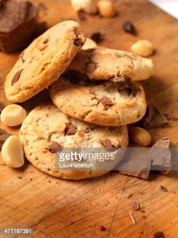 Chocolate,Macadamia nut Cookies