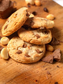 Chocolate,Macadamia nut Cookies